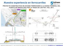 PROYECTO CONSTRUCTIVO DE ACCESO FERROVIARIO A LA NUEVA TERMINAL DEL PUERTO DE BARCELONA POR LA TRAZA DE LOS FGC