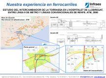 ESTUDIO DEL INTERCAMBIADOR DE LA TORRASSA EN L'HOSPITALET DE LLOBREGAT, ENTRE LÍNEA 9 DE METRO Y LÍNEAS CONVENCIONALES DE RENFE