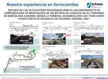 ESTUDIO DE LAS ACTUACIONES NECESARIAS PARA EL ENCAMINAMIENTO DE COMPOSICIONES DE MERCANCÍAS DE 750 METROS DE LONGITUD EN EL ITINERARIO DE BARCELONA A MADRID, DESDE LA TERMINAL DE BARCELONA CAN TUNIS HASTA PUERTO SECO DE AZUQUECA DE HENARES