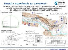 Proyecto de construcción. Instalaciones complementarias y acabados de los túneles de Pont Plà y de Sant Antoni, en la red urbana y en los accesos relacionados