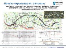 Proyecto constructivo. Mejora general. Variante de Belltall. Carretera C-14, del PK 53+000 al 55+650. Tramo: Passanant