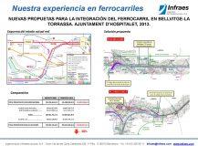 NUEVAS PROPUETAS PARA LA INTEGRACIÓN DEL FERROCARRIL  EN BELLVITGE-LA TORRASSA