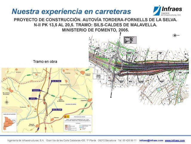 Proyecto de construcción. Autovía Tordera-Fornells de la Selva. N-II, PK 13,5 al 20,5. Tramo Sils-Caldes de Malavella