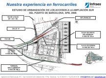 ESTUDIO DE URBANIZACIÓN DE LOS ACCESOS A LA AMPLIACIÓN SUR  DEL PUERTO DE BARCELONA