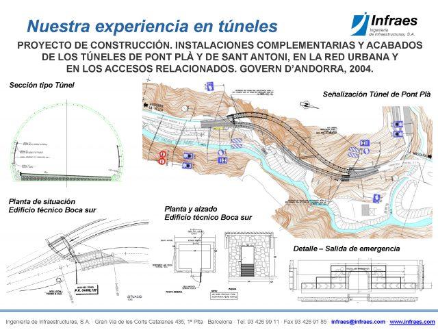 PROYECTO DE CONSTRUCCIÓN. INSTALACIONES COMPLEMENTARIAS Y ACABADOS  DE LOS TÚNELES DE PONT PLÀ Y DE SANT ANTONI, EN LA RED URBANA Y  EN LOS ACCESOS RELACIONADOS.