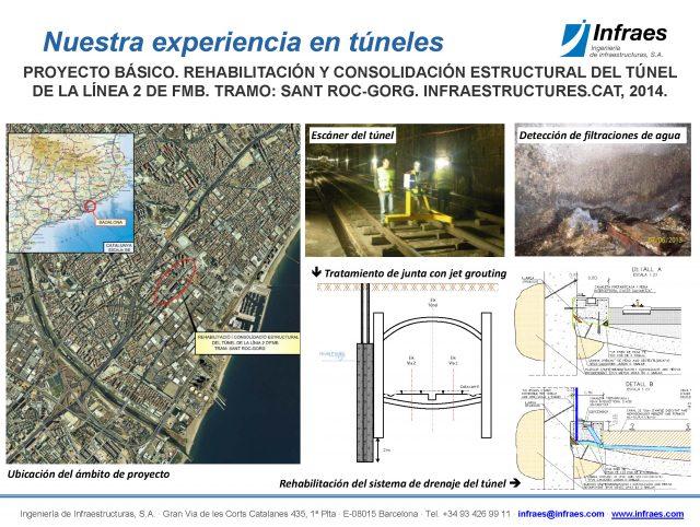 Proyecto básico. Rehabilitación y consolidación estructural del túnel de la línea 2 de FMB. Tramo: Sant Roc – Corg