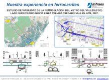 ESTUDIO DE VIABILIDAD DE LA REMODELACIÓN DEL METRO DEL VALLÈS (FGC) LAZO FERROVIARIO NUEVA LÍNEA AVENIDA TIBIDABO-VALLÈS