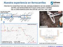PROYECTO CONSTRUCTIVO DEL ESTABLECIMIENTO DE VÍA SOBRE HORMIGÓN ENTRE LAS ESTACIONES DE PLAÇA CATALUNYA Y SARRIÀ  DE LA LÍNEA BARCELONA-VALLÈS DE LOS FGC