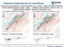 Proyecto de ensanche y rectificación CG-2. Tramo: cruce de Engolasters – cruce avenida Miquel Mateu (Fase I – Torrent Can Noguer – cruce con la avenida Miquel Mateu)
