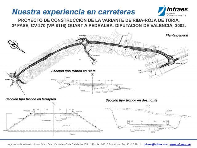 Proyecto de construcción de la Variante de Riba-Roja de Túria. 2ª fase, CV-370 (VP-6116) Quart a Pedralba