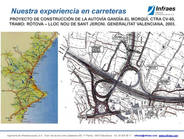 Proyecto de construcción de la autovía Gandía – El Morquí, ctra. CV-60, tramo: Rótova-Lloc Nou de SantJeroni