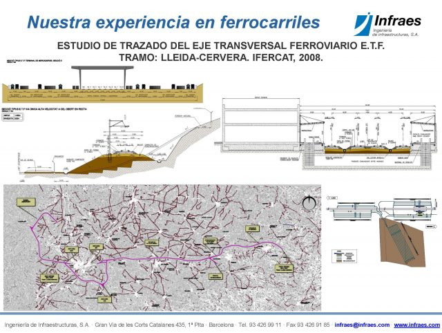 ESTUDIO DE TRAZADO DEL EJE TRANSVERSAL FERROVIARIO E.T.F. TRAMO: LLEIDA-CERVERA