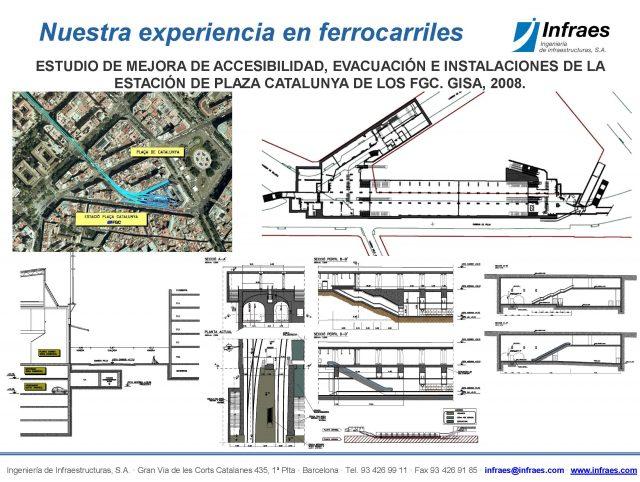 ESTUDIO DE MEJORA DE ACCESIBILIDAD, EVACUACIÓN E INSTALACIONES DE LA ESTACIÓN DE PLAZA CATALUNYA DE LOS FGC