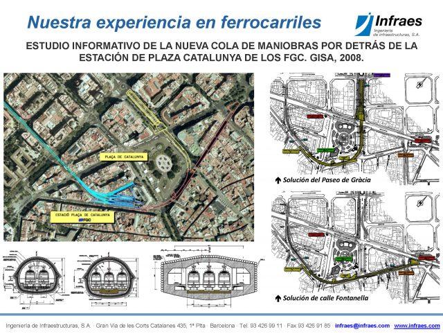 ESTUDIO INFORMATIVO DE LA NUEVA COLA DE MANIOBRAS POR DETRÁS DE LA ESTACIÓN DE PLAZA CATALUNYA DE LOS FGC