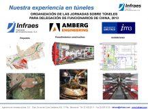 Organización de las jornadas sobre túneles para delegación de funcionarios de China