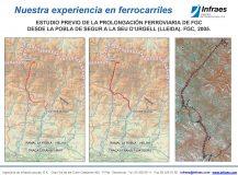ESTUDIO PREVIO DE LA PROLONGACIÓN FERROVIARIA DE FGC DESDE LA POBLA DE SEGUR A LA SEU D'URGELL (LLEIDA)